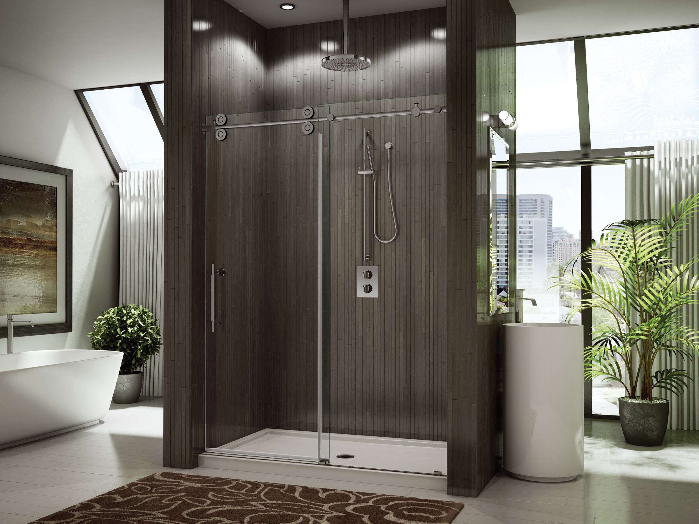 shower chrome rubbed bathroom oil systems bronze finish