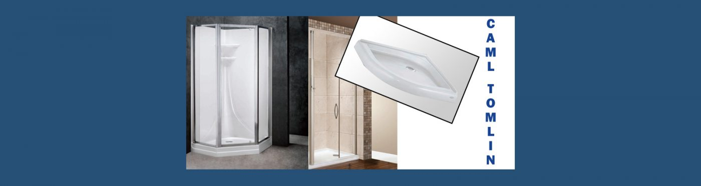 Caml Tomlin shower doors and shower bases