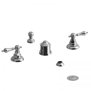Riobel 4-Piece Bidet Faucet With Integrated Vacuum Breaker RO09+