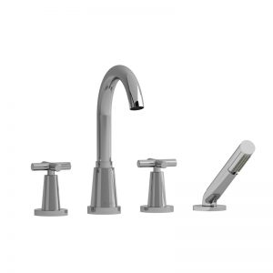 Riobel-PALLACE- 4-Piece Deck-Mount Tub Filler With Hand Shower PA12+