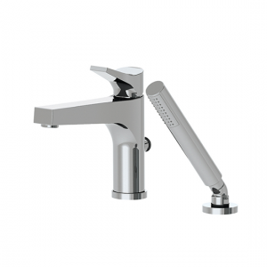 2-piece deckmount tub filler with handshower - 17074