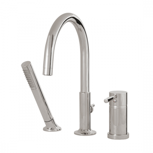 3-piece deckmount tub filler with handshower - 27413