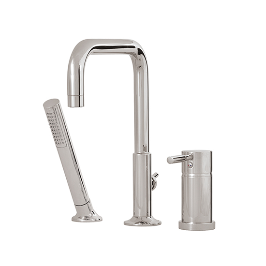 3-piece deckmount tub filler with handshower - 27513