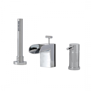 3-piece deckmount tub filler with handshower - 32013