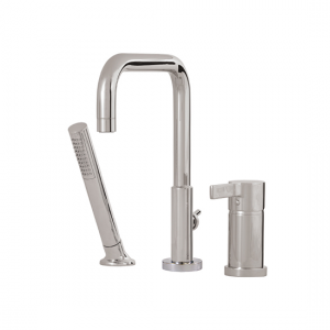 3-piece deckmount tub filler with handshower - 68013