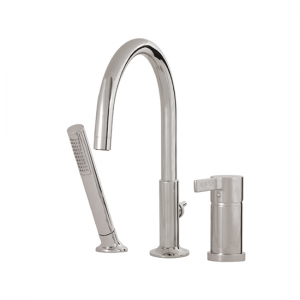 3-piece deckmount tub filler with handshower - 68113