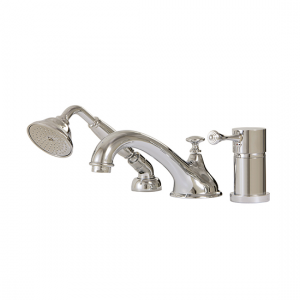3-piece deckmount tub filler with handshower - 7313