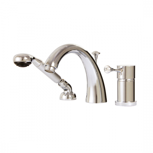 3-piece deckmount tub filler with handshower - 7813