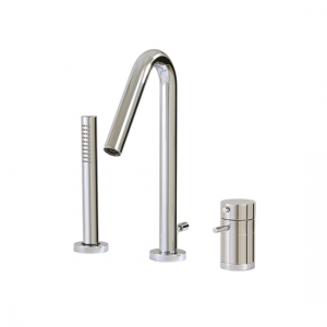 3-piece deckmount tub filler with handshower - X7533