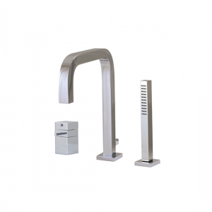 3-piece deckmount tub filler with handshower - X7633