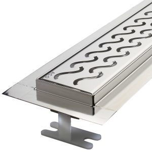 ACO- Quartz- Flange Edge Shower Channel
