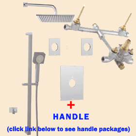 Aquabrass Shower Kit TREVI N1056 Square 49