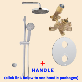 Aquabrass Shower Kit Trevi N1058 Round 01