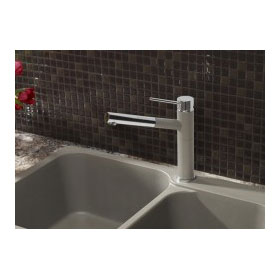 Blanco Kitchen Faucet Alta Series Alta Dual Spray Chrome/Cinder 401450