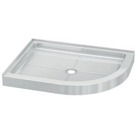 Fleurco Shower Base Half round Acrylic Shower Base