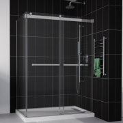 Fleurco Shower Door Gemini 2 Sides ByPass Plus Including Return Panel 2