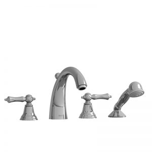 Riobel 4-Piece Deck-Mount Tub Filler With Hand Shower PR12+
