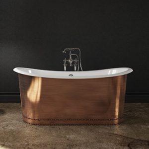 Slik Cast Iron Copper Freestanding Bathtub