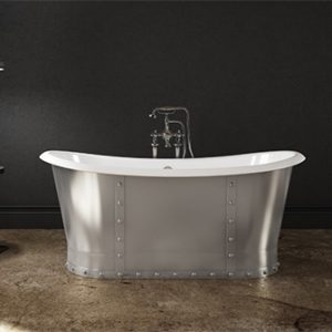 Slik Cast Iron Steel Freestanding Bathtub