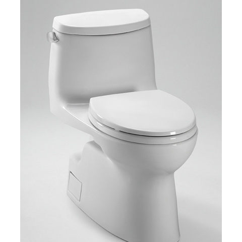 TOTO Carlyle II One Piece High Efficiency Toilet, with SanaGloss, 1.28GPF (MS614114CEFG)