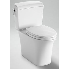 TOTO Maris Closed Coupled Toilet, 1.28GPF / 0.9GPF, with SanaGloss (CST484CEMFG)