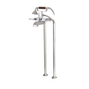 Wallmount cradle tub filler with handshower and floor risers - 53086