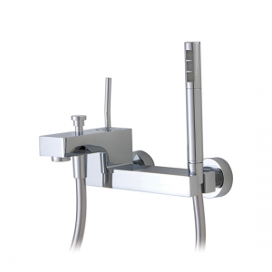 Wallmount tub filler with handshower - 28004