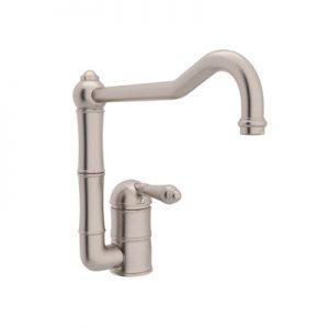 COUNTRY KITCHEN SINGLE HOLE COLUMN SPOUT KITCHEN FAUCET WITH EXTENDED SPOUT PRODUCT # A3608/11