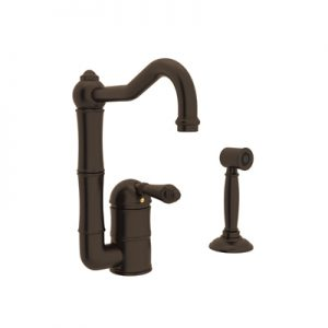 COUNTRY KITCHEN SINGLE HOLE COLUMN SPOUT BAR/FOOD PREP FAUCET WITH SIDESPRAY PRODUCT # A3608/6.5WS