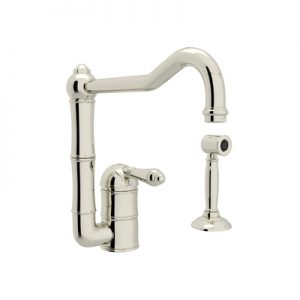 COUNTRY KITCHEN SINGLE HOLE COLUMN SPOUT KITCHEN FAUCET WITH SIDESPRAY PRODUCT # A3608WS