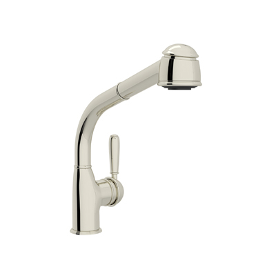 COUNTRY SIDE LEVER PULL-OUT KITCHEN FAUCET WITH METAL LEVER PRODUCT # R7903