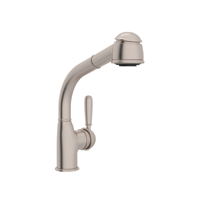 COUNTRY SIDE LEVER PULL-OUT BAR/FOOD PREP FAUCET WITH METAL LEVER & SHORT HANDSPRAY PRODUCT # R7903S