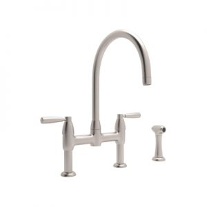 PERRIN & ROWE® CONTEMPORARY BRIDGE KITCHEN FAUCET WITH SIDESPRAY PRODUCT # U.4273