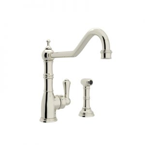 PERRIN & ROWE® SINGLE LEVER SINGLE HOLE KITCHEN FAUCET WITH SIDESPRAY # U.4747