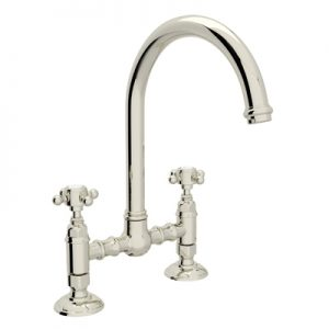 COUNTRY KITCHEN DECK MOUNT C-SPOUT BRIDGE KITCHEN FAUCET PRODUCT # A1461