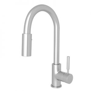 MODERN ARCHITECTURAL SIDE LEVER BAR/FOOD PREP STAINLESS STEEL PULL-DOWN KITCHEN FAUCET PRODUCT # R7519SS