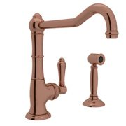 CINQUANTA SINGLE HOLE COLUMN SPOUT KITCHEN FAUCET WITH SIDESPRAY & EXTENDED SPOUT PRODUCT # A3650/11WS
