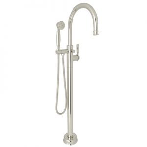 TRADITIONAL SINGLE LEG FLOOR MOUNTED TUB FILLER #T1587 by Rohl