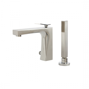 2-piece deckmount tub filler with handshower - 19074