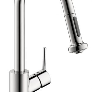 Hansgrohe Talis S 2-Spray HighArc Kitchen Faucet, Pull-Down