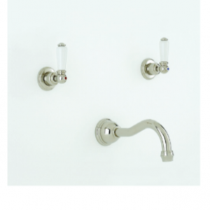 Perrin & Rowe - Three Hole wall mounted country basin mixer- 3790- 3791