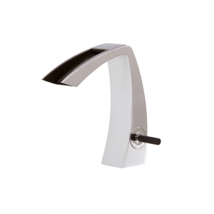 Single-hole lavatory faucet with open spout - 61814