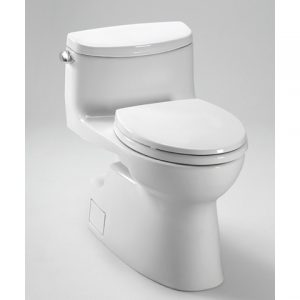 TOTO Carolina 2 One Piece High Efficiency Toilet, with SanaGloss, 1.28GPF, (MS644114CEFG)
