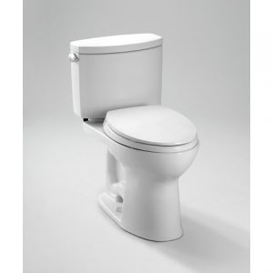 TOTO Drake II Two-Piece Toilet, 1.28 GPF, SanaGloss (CST454CUFG)