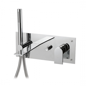 Wallmount tub filler with handshower - 92004