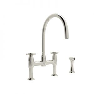PERRIN & ROWE® CONTEMPORARY BRIDGE KITCHEN FAUCET WITH SIDESPRAY PRODUCT # U.4272