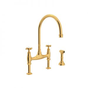 PERRIN & ROWE® BRIDGE KITCHEN FAUCET WITH SIDESPRAY # U.4718