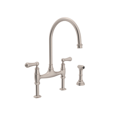 Perrin Rowe Bridge Kitchen Faucet With Sidespray