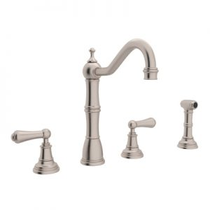 PERRIN & ROWE® 4-HOLE KITCHEN FAUCET WITH SIDESPRAY # U.4776