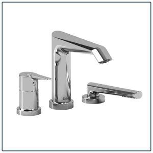 Deck mount Tub Filler Faucet Set